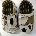 Baby Soft Sole Shoes in Koala Bear Print