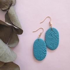 Turquoise Mandala Dangles