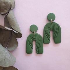 Olive Green Wattle Dangles