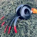 Timmy Tommy the Toucan Go Cart Tyre Pot Plant Retro Revival Recycle