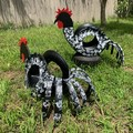 Rodney the Rooster Go Cart Tyre Pot Plant Retro Revival Recycle