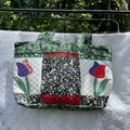 Tote Bag Embroidered/Quilted