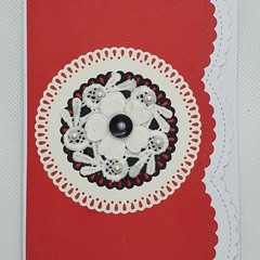 Greeting Card - Lace Flower Wheel