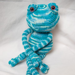 Crocheted Long-legged Frog Softie Toy
