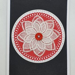 Greeting Card - Lace Daisy Flower