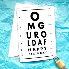 Eye Exam Funny Birthday Card