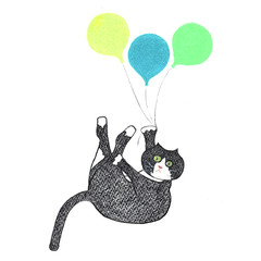 Whimsical Animal Card: Walter with Balloons
