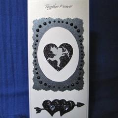 'Together Forever' Cupid & Hearts Valentine Card