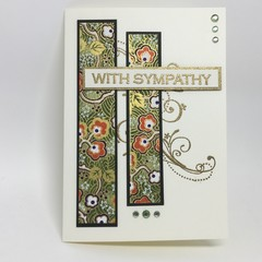 Sympathy Card - Gold patterned Chiyogami Paper