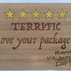 Valentine's Day Wooden Cards - Style 2  - Price includes postage
