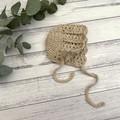 Crochet Baby Bonnet, Baby Girls Hat