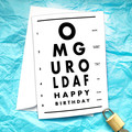 Eye Exam Funny Birthday Card
