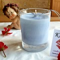 "Small Votive Scented ""Soy candle set""Violet and lime"
