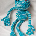 Crocheted Long-legged Frog Softie Toy