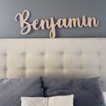 Nursery wall art, personalised nursery name, personalised baby name wall