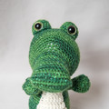 Crocheted Sparkly Green Crocodile Softie Toy