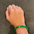 YOU are already enough! ~ Gemstone and glass beaded stretch bracelet Aventurine