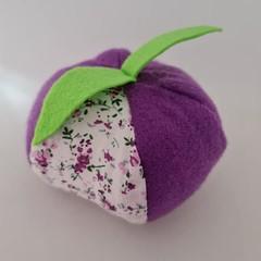 Purple fruit shaped  pincushion / sewing accessory