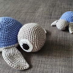 Handmade Crochet Turtle Toy & Keychain
