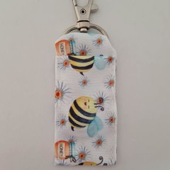 Bee print chapstick / lipstick holder / cosmetics bag