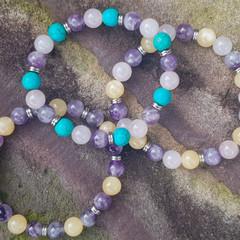 Gorgeous Gemstone Beaded Bracelets ~ 3 too choose from..