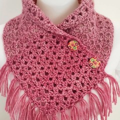 Pink 💕 scarf with tassels