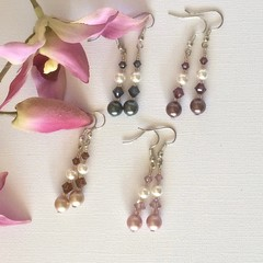 Swarovski Pearl Earrings: Lana