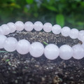 Keepin It Rosey ~ Gemstone Beaded Bracelet (Rose Quartz)