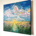 'A Single Moment' original abstract landscape contemporary artwork on canvas