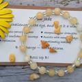 Yellow Jade gemstone & clear silver lined glass beaded bracelet