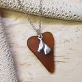Seaglass Horse - Brown Amber