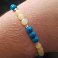 Reclaim Your Power ~ Gemstone and glass bead stretch bracelet