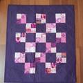 Burgundy/purple/pink baby/doll quilt