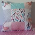 DREAMCATCHER  PATCHWORK CUSHION COVER