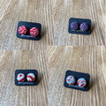 Free Postage!  button earrings