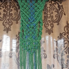 Green and Blue macrame Wall hanging
