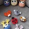 Handmade Crochet Animal Keychains