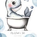 Mr Whale's Tale 1 Personalisable Art Print | Nursery Print | Art Print for Boy