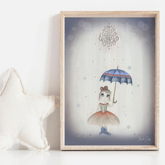 Twinkle Toes Art Print | Hand Illustrated | Nursery Print | Wall Art for Girls