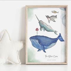 The Blue Crew Personalisable Art Print   Boys Art Print   Nursery Art Print