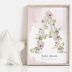 H, I, J, K...ELLAMANO...Sweet P's Art Print | Personalised Art | Giclée | Gift f