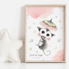 Sweet as Sugar Personalisable Art Print | Nursery Print | Baby Shower Gift | Art