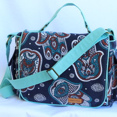 Messenger bag, tapestry fabric