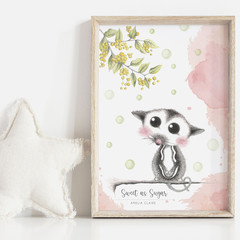 Sweet as Sugar 2 Personalisable Art Print   Nursery Art Print