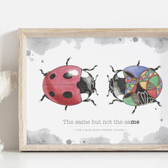 Beautiful Individual Art Print | Meaningful Wall Art Kids | Classroom Art