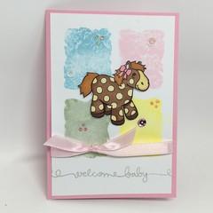 Baby Girl Card - Toy Pony