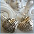 heart design earrings  silver tone earring  charm