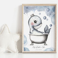 Mr Whale's Tale 1 Personalisable Art Print | Nursery Print | Art Print for Boy
