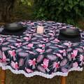 Round tablecloth - Australian Galah print
