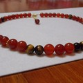 Stunning Carnelian Necklace with Tigers Eye